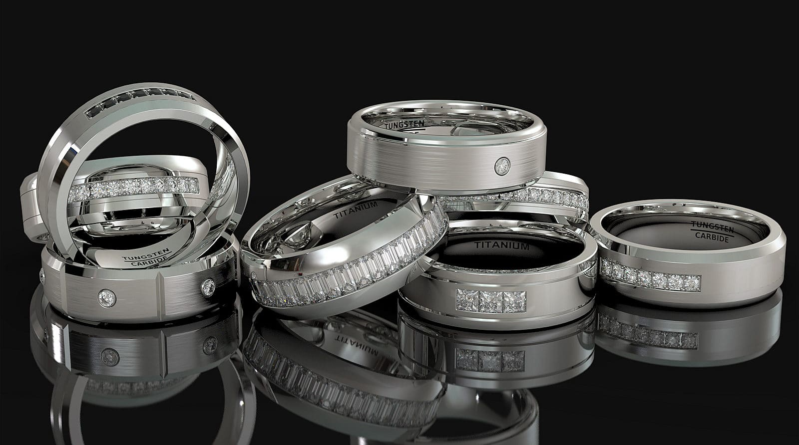 tungsten carbide ring mens wedding bands american tungsten