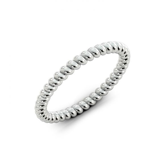 Ladies 2mm Wedding Band in Sterling Silver