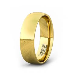 8mm 18k Gold Plated High Polish Dome Tungsten Ring
