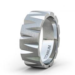 Tungsten Ring Satin Finish Unique MW Shape Flat Edge Comfort Fit