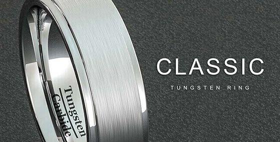 b19a6da4879e1 Tungsten Wedding Rings for Men | Carbide Wedding Bands